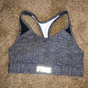 PINK Sports bra w/ pocket size large gray